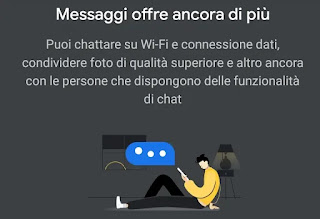 Messaggi in chat Google