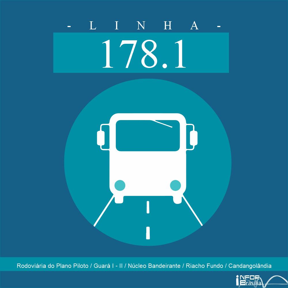 Horário de ônibus e itinerário 178.1 - Rodoviária do Plano Piloto / Guará I - II / Núcleo Bandeirante / Riacho Fundo / Candangolândia