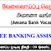 Vacancies in AMANA BANK