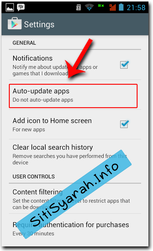 Stop Update Otomatis Android