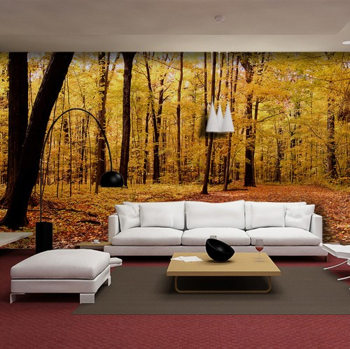 metsä tapetti syksy tapetti tausta seinä metsä taustakuva valokuvatapetti olohuone