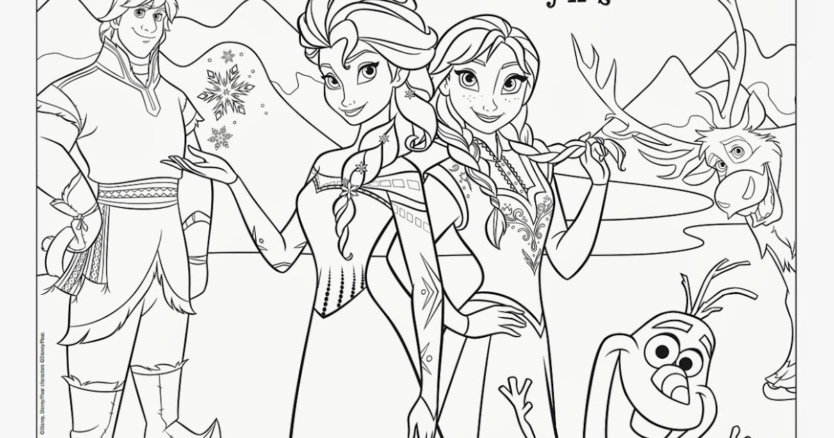 Savvy and Sassy: Disney on Ice Frozen Coloring Sheet and