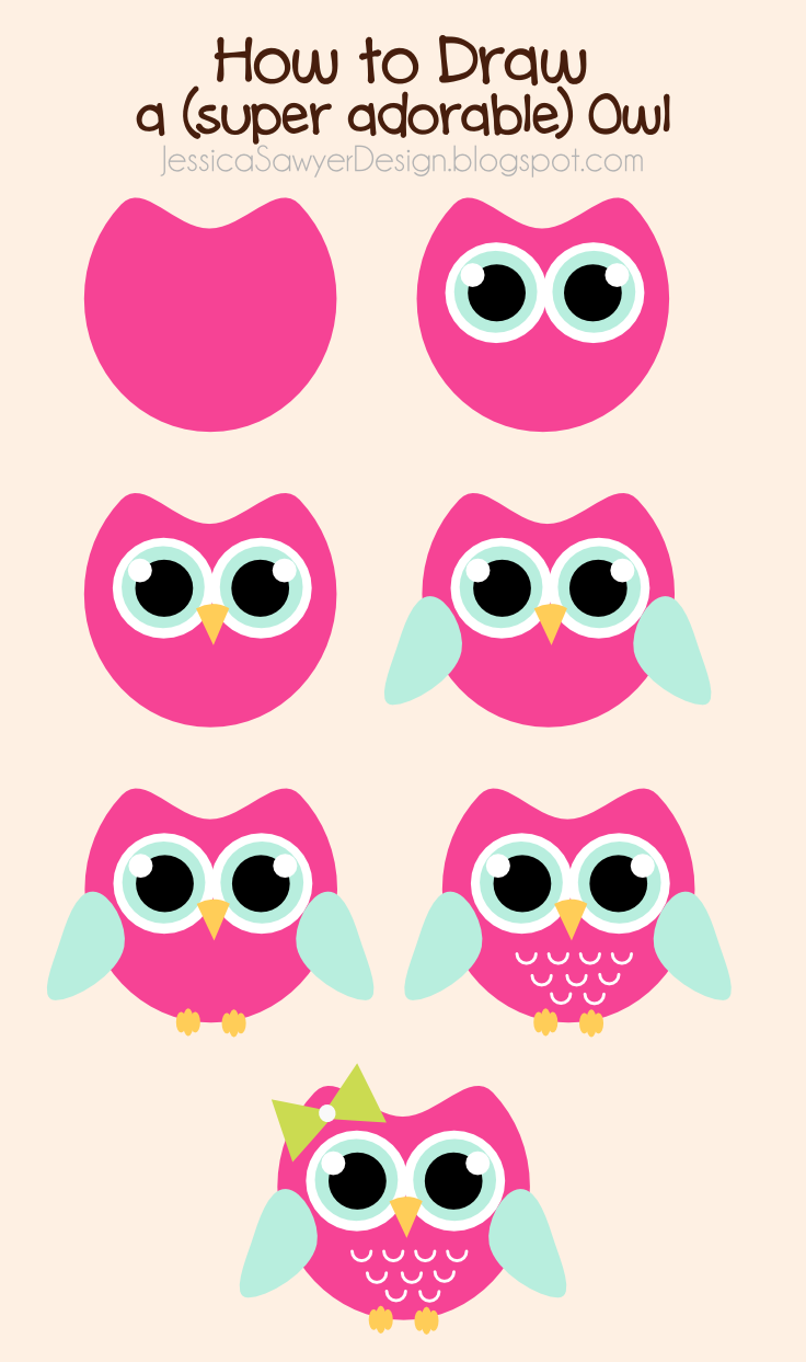 how to draw an owl free owl clipart jessica sawyer design