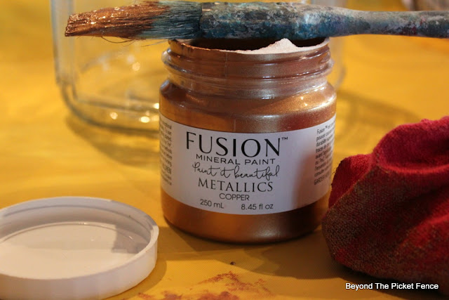 fusion mineral paint, copper paint, faux mercury glass, https://goo.gl/oJunq7