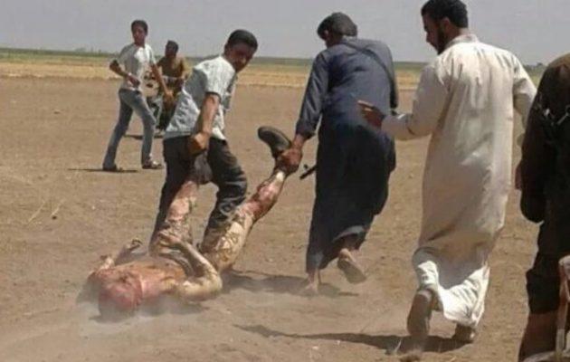 Οι εικόνες είναι σκληρές - Έπεσε ρωσικό ελικόπτερο στη Συρία – Τζιχαντιστές μαστουρωμένα ζώα «σέρνουν» τον νεκρό πιλότο (βίντεο)