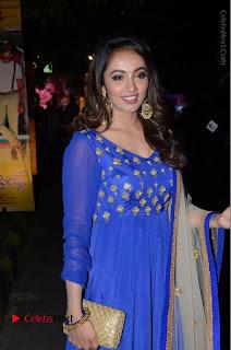 Telugu Actress Tejaswi Madivada Pos in Blue Long Dress at Nanna Nenu Na Boyfriends Audio Launch  0045.JPG