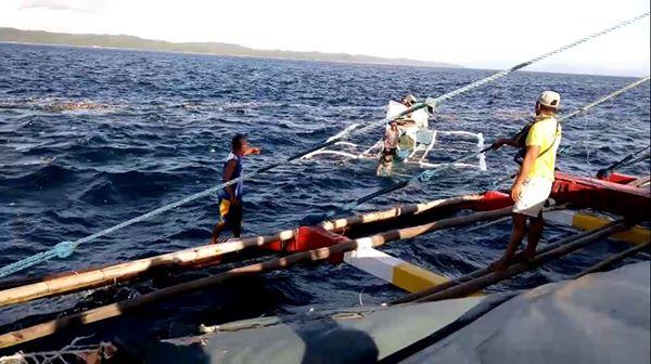 distressed fishermen in capul island