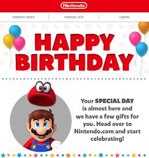 My Nintendo Happy Birthday Mario Cappy a few gifts