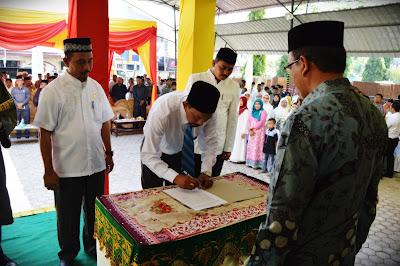 Kakanwil Kemenag Aceh Lantik Kepala MAN Insan Cendekia Aceh Timur