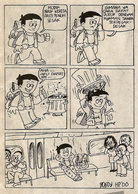 Komik strip tentang mudik karya Boedy HP. Pernah dimuat di media pada 29 Desember 2001.