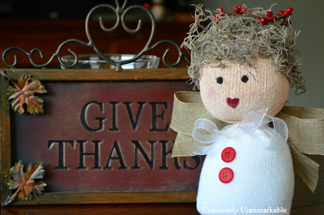 Give Thanks Sock Angel Doll