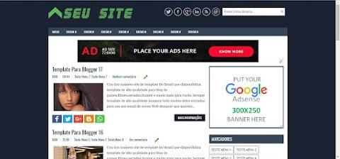 Modelo de Template para seu site ou blog Gratuito