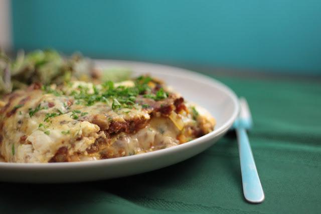 Lasagne aux épinards et Mozarella