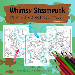 whimsy doodle steampunk sea life bundle 3