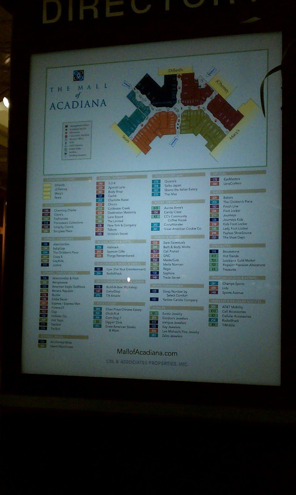 Mall Of Louisiana Directory : louisiana, directory, Louisiana, Texas, Retail, Blogspot:, November