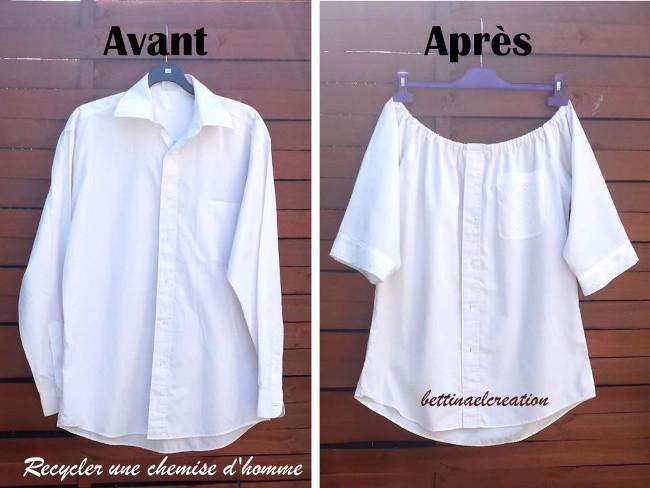 Assez Idée Couture : Que faire avec une chemise d'homme ? Bettinael  BK51