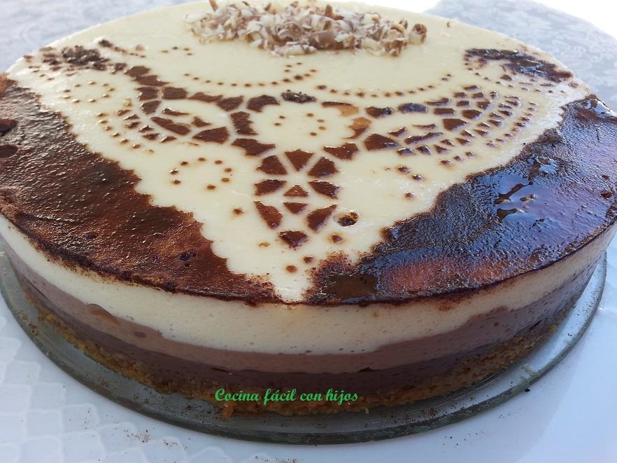 Cocina f cil con hijos tarta tres chocolates con y sin for Cocina thermomix facil