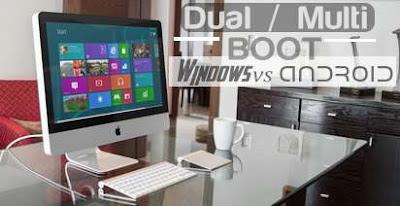 cara dual boot windows dengan android