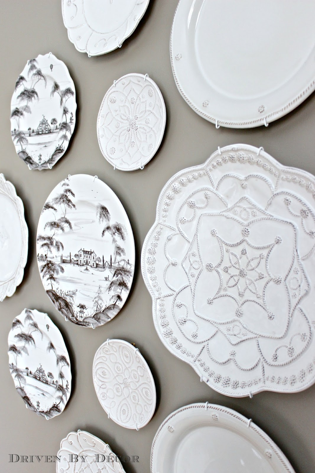 Decorative Christmas Plates For The Wall The Easy Howto For Hanging Plates On The Wall  Drivendecor
