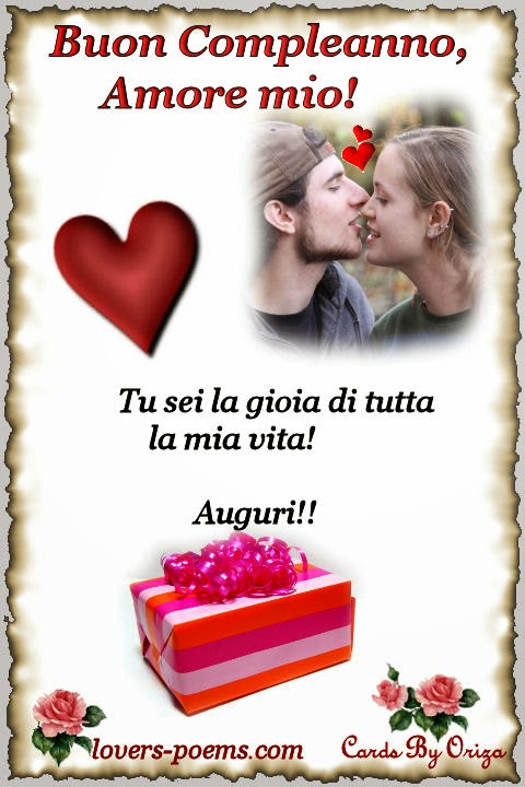 Messaggi, Frasi, Poesie d'amore: Buon Compleanno, Amore!