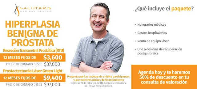 Precio Tratamientos Hiperplasia Benigna de Prostata Guadalajara