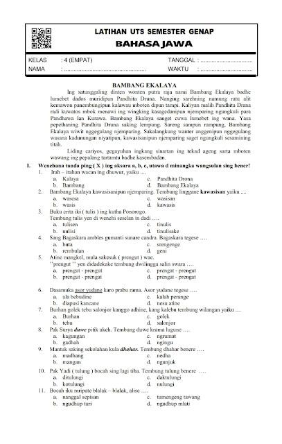 Bahasa Jawa Kelas 6 Semester 1 Ilmusosial Id