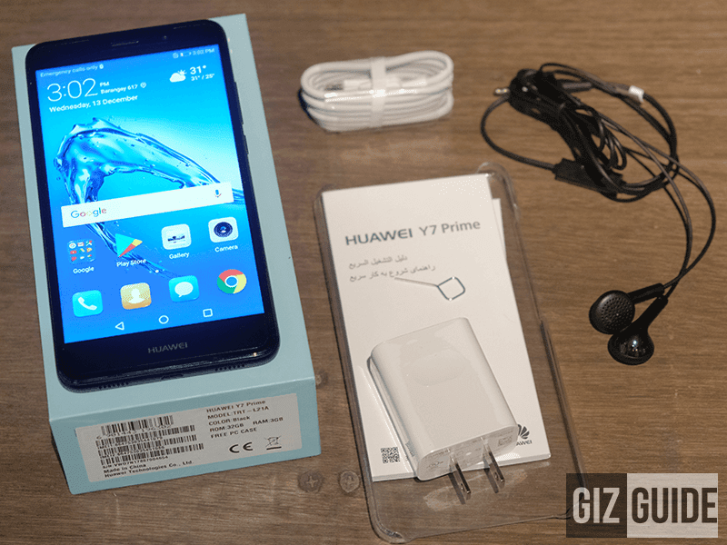 huawei-y7-prime-box Raffle: Huawei Y7 Top with large 4,000mAh battery Technology