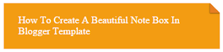orange color css note box for blogger template