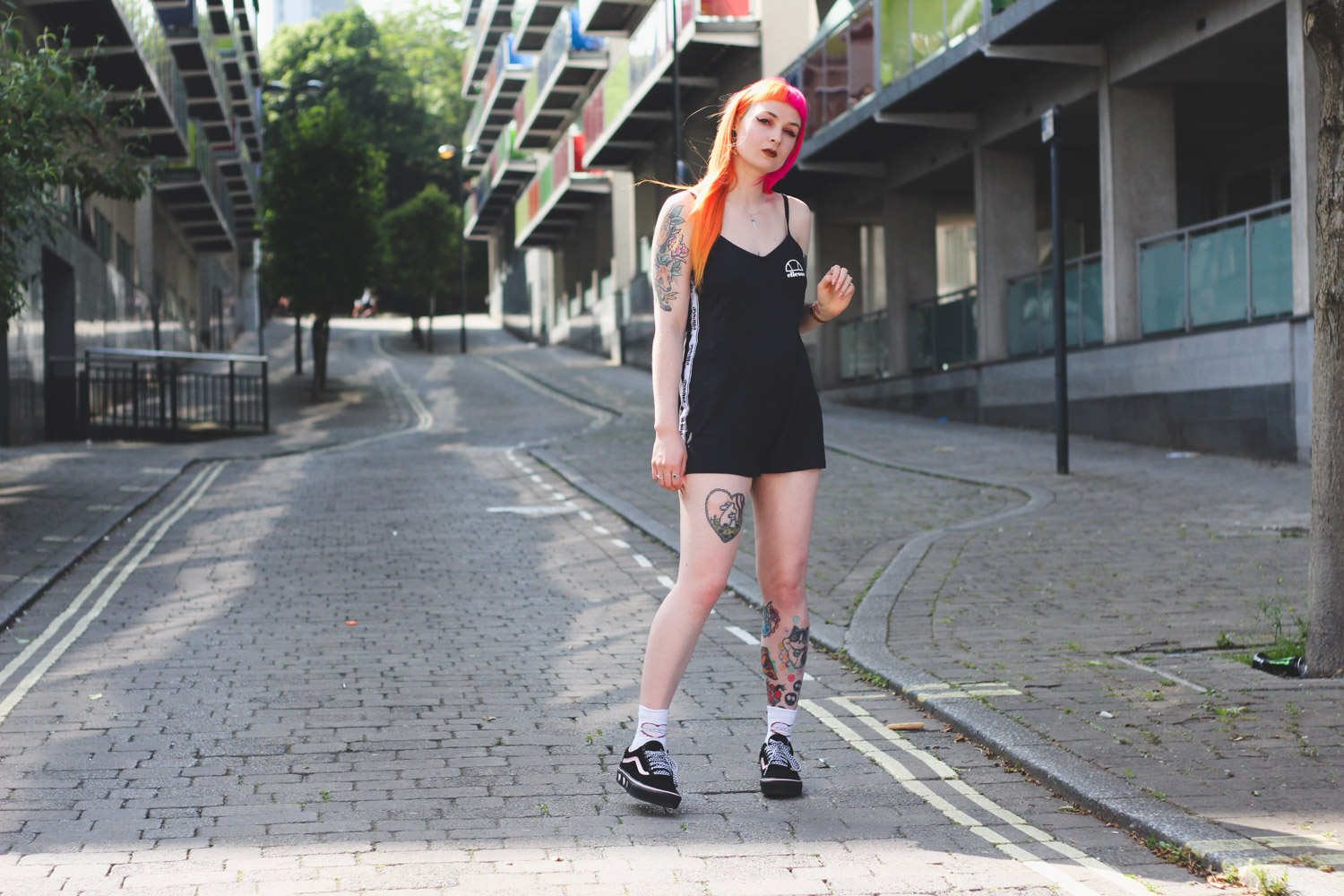 Alternative Fashion Blogger Foxxtailz Styles Ellesse Playsuit