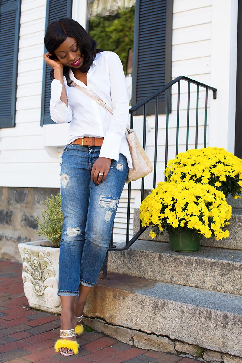 casual look, boyfriend jeans, sophoa webster shoes, Etienne Aigner bag