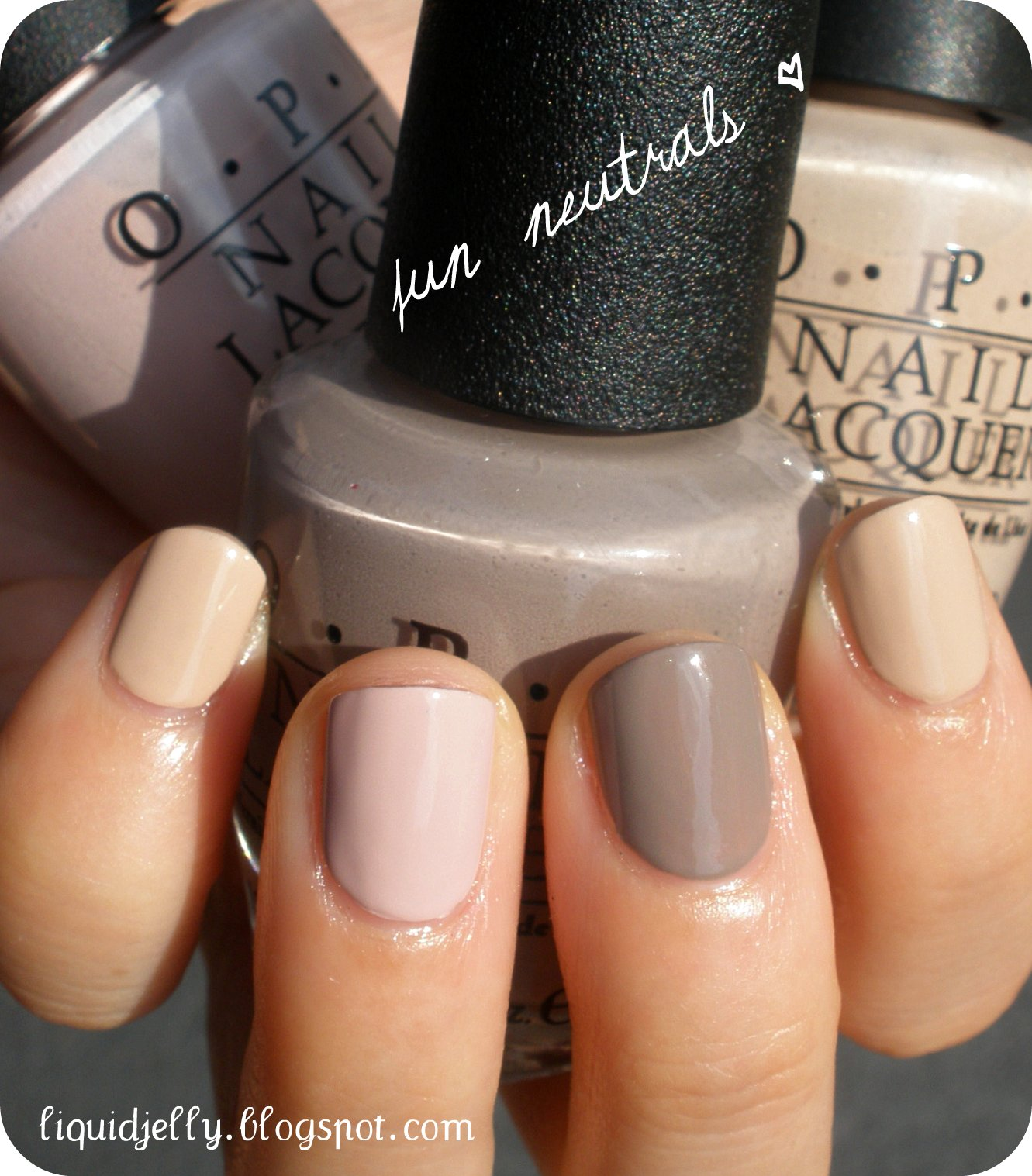 Liquid Jelly: OPI Germany: Neutrals Can Be Fun Too!