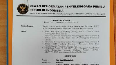DKPP RI Akan Putuskan Nasib Komisioner Bawaslu Lombok Timur