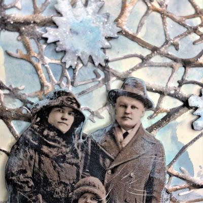 Sara Emily Barker https://sarascloset1.blogspot.com/2018/10/wishful-thinking-winter-card.html Wishful Thinking Winter Card with Tim Holtz Sizzix Alterations Ideaolgy Ranger Products 2
