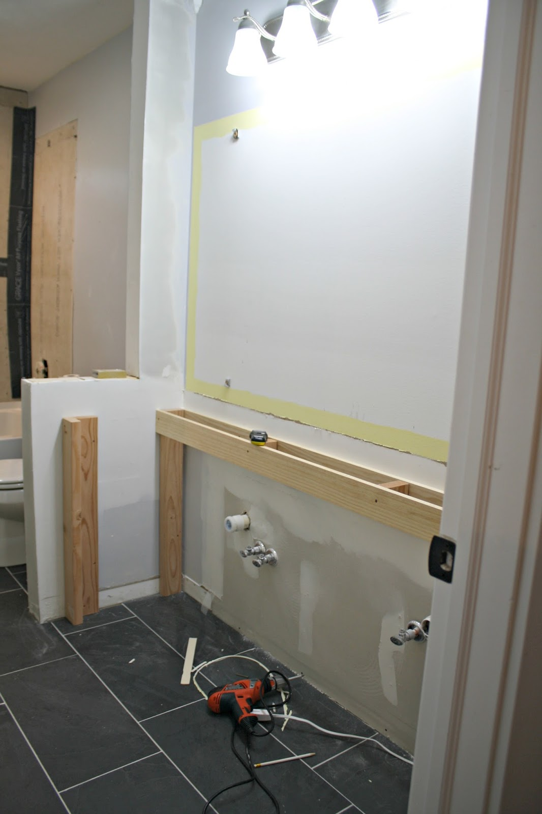 How to build a DIY open bathroom vanity | WHITE HOMES