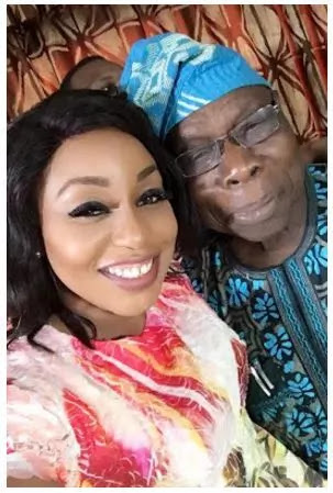 Selfie photos of Rita Dominic and Obasanjo