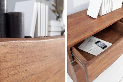designový nábytek Reaction, dřevěný nábytek, nábytek z masivu a kovu