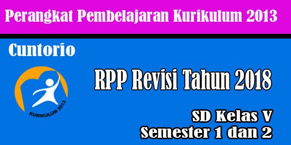 RPP K13 Kelas 5 SD MI Revisi 2018