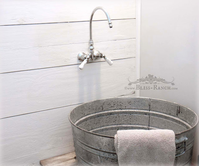 Galvanized tub sink, Bliss-Ranch.com