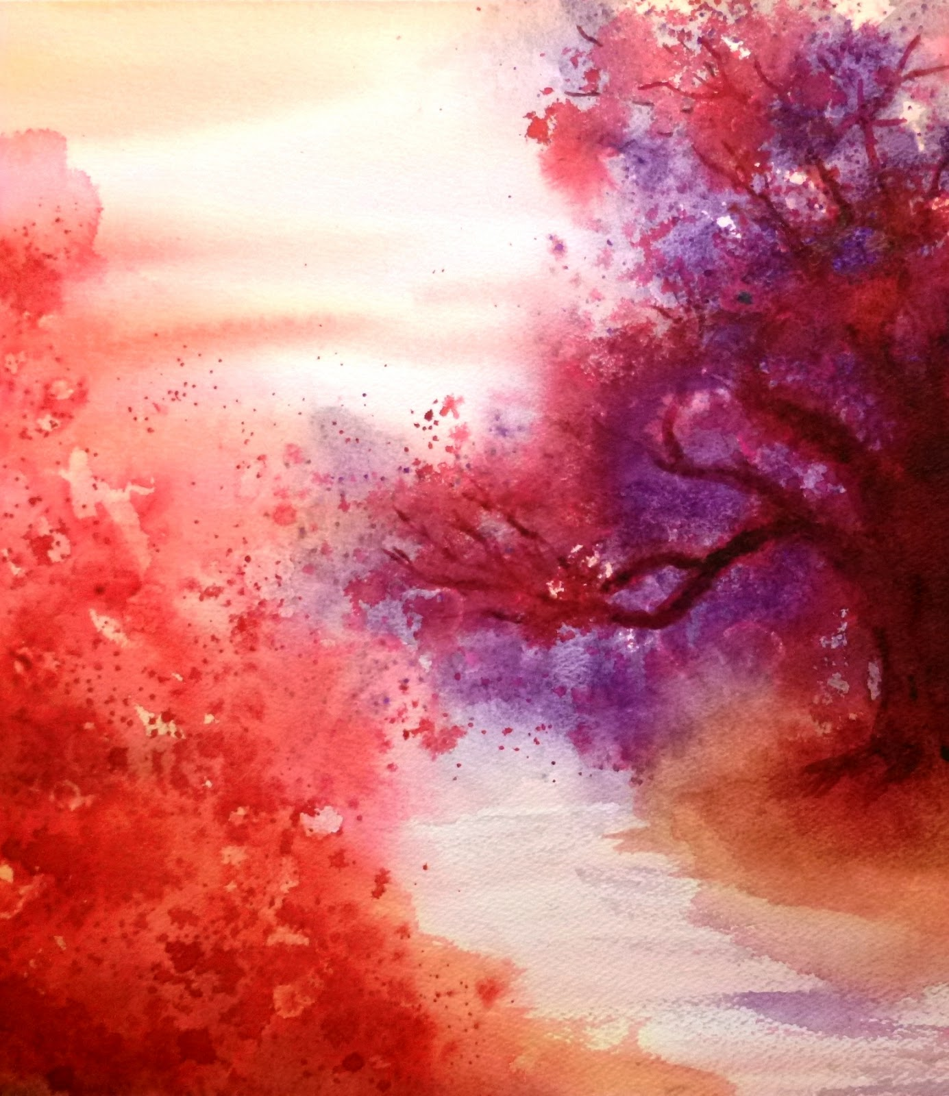 Japanese Garden (Watercolor)