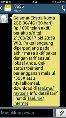 Promo Internet Murah Telkomsel 2GB 1000 Rupiah