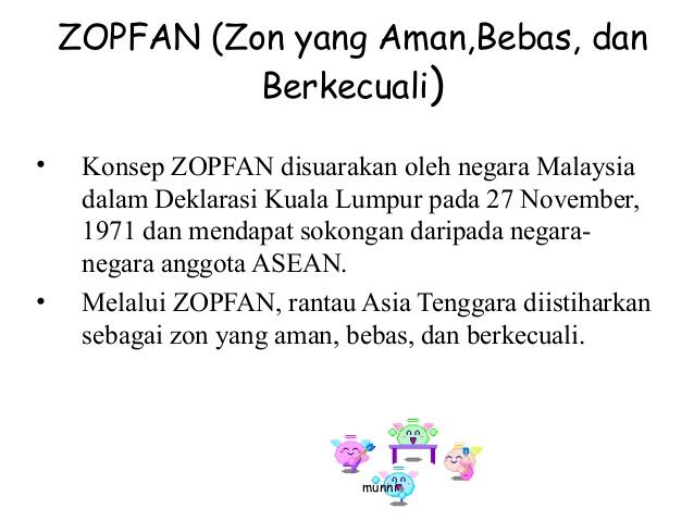 Deklarasi Kuala Lumpur 1971 Kesepakatan Zopfan Di Asean Dunia Pendidikan