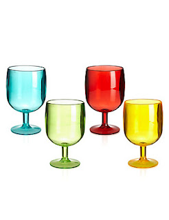 Coloured Picnic glasses