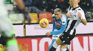 نابولي يفضل في الفوز من جديد بالتعادل مع فريق اودينيزي في الدوري الايطالي