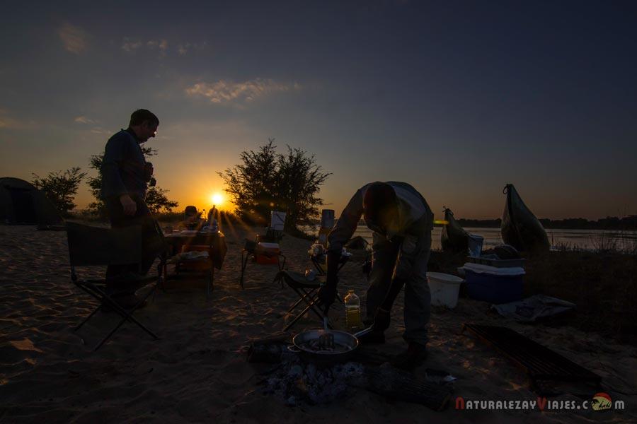 Campamento en Zambezi, Zambia