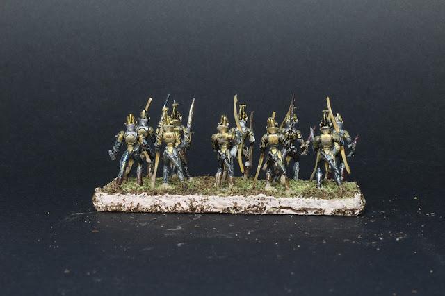 l'Armée des elfes du jeu King of War. Sentinelles des clairières de la Lignée.