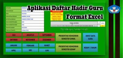 Aplikasi Daftar Hadir Guru Format Excel