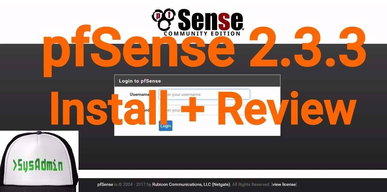 pfSense 2 3 3 Firewall Installation and Review on VMware
