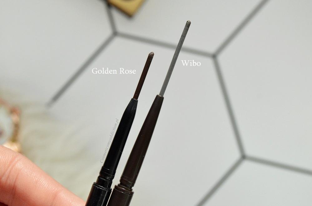 Wibo, Feather Brow Creator vs Golden Rose Precise Browliner - kredka do brwi