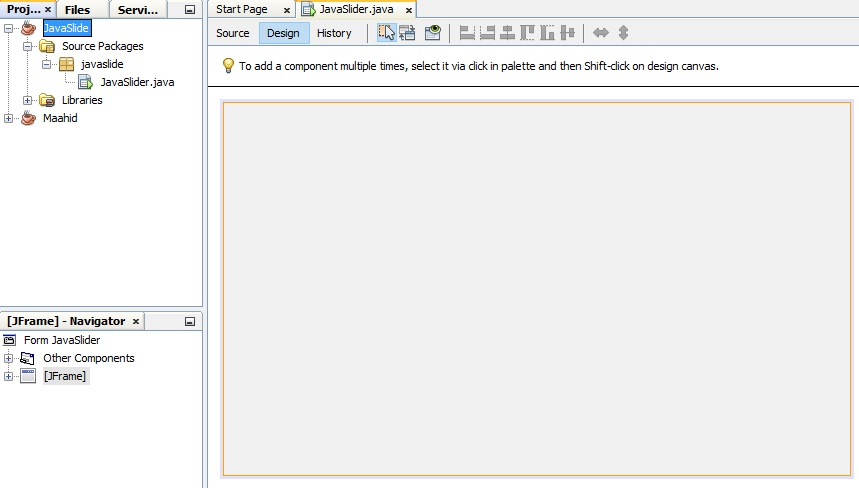 How To Create Slide with Java Like Power Point   Source