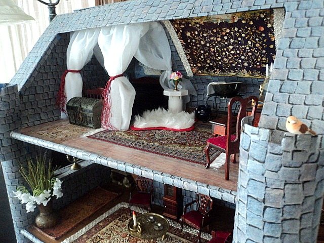 Where The Gnomes Live Dresser Turned Into Dollhouse Castle